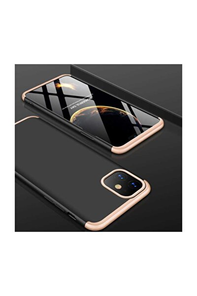 Iphone  11 Kılıf 360 Tam Koruma Ays Kamera Korumalı Kılıf Siyah Gold