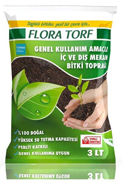 Flora Torf Saksı Çiçek Toprağı Perlit Katkılı 3 Litre