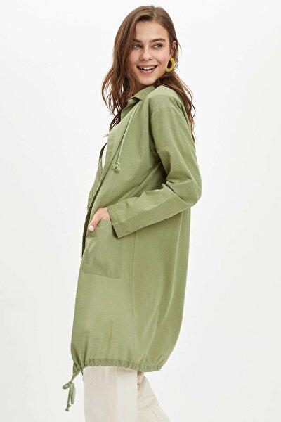 Oversize Pamuklu Keten Kimono Gömlek