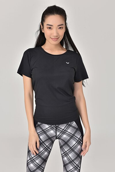Siyah Sırt Detaylı Kadın T-Shirt GS-8110