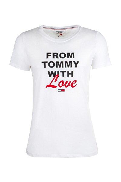 Kadın Tommy Hılfıger T-shırt Dw0dw06227-100