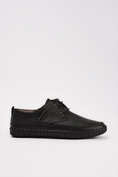 Hakiki Deri Siyah Erkek Klasik Ayakkabı 02AYY207670A100