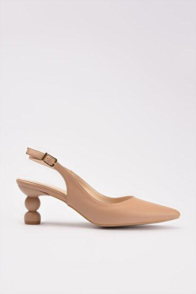 Naturel Kadın Klasik Topuklu Ayakkabı 01AYH214430A330