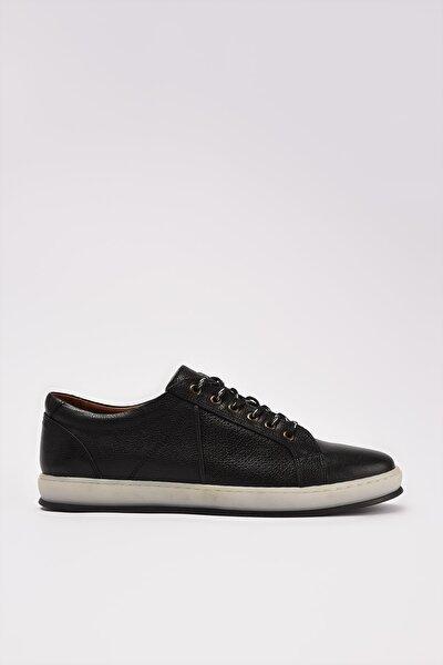Hakiki Deri Siyah Erkek Sneaker 02AYY215190A100