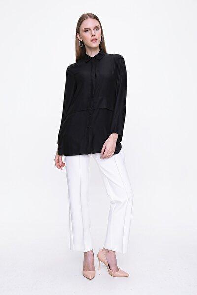 Kadın Siyah Uzun Kol Bluz