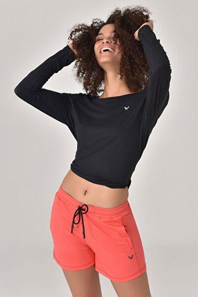 Siyah Kadın Uzun Kol T-Shirt GS-8108