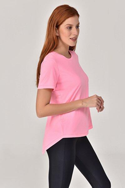 Pembe Kadın Sırt Detaylı T-Shirt GS-8110