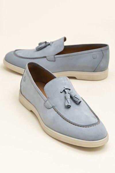 ANTUANE Hakiki Deri Açık Mavi Erkek Ayakkabı