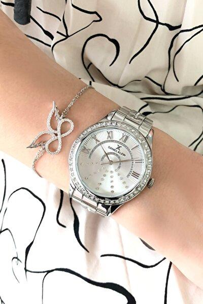 Kadın Gri Saat + 925 Ayar Gümüş Bileklik Hediyeli