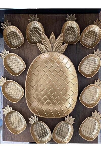 Ananas Tepsi Ve 12'li Çerezlik Ananas Takım