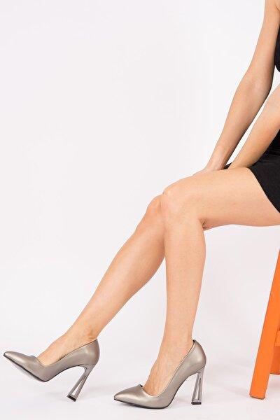 Platin Kadın Topuklu Ayakkabı H922252209