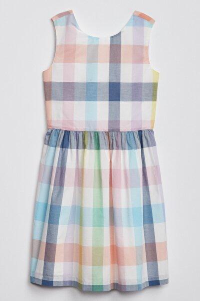 Kız Çocuk Desenli Kolsuz Elbise