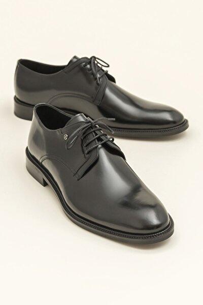 PRESTON Hakiki Deri Siyah Erkek Ayakkabı
