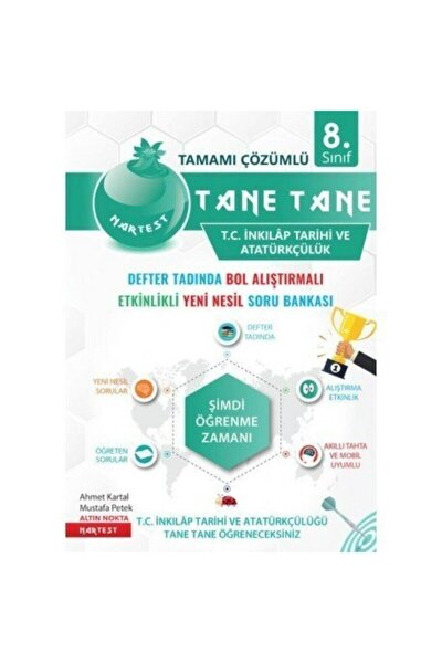 Nartest Yayınları 8.sınıf Tane Tane Inkılap Tarihi Defter Tadında Soru Bankası