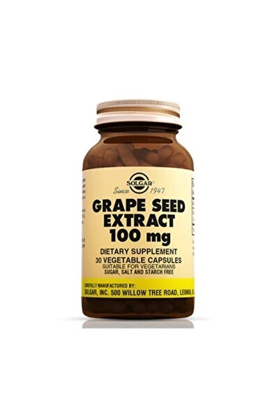 Grape Seed Extract 100 Mg 30 Kapsül