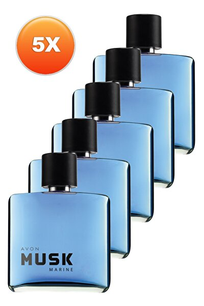 Musk Marine Erkek Parfüm Edt 75 ml 5'li Set 5050000104876