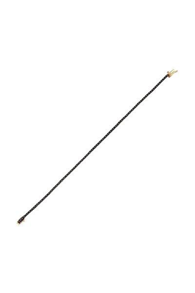 Siyah Pırlanta Suyolu Bileklik Pb2489-6