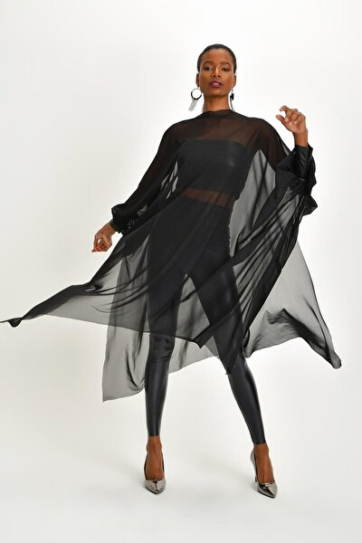 Kadın Siyah Tül Tunik
