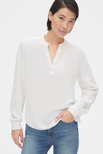 Kadın Uzun Kollu Popover Bluz 524112