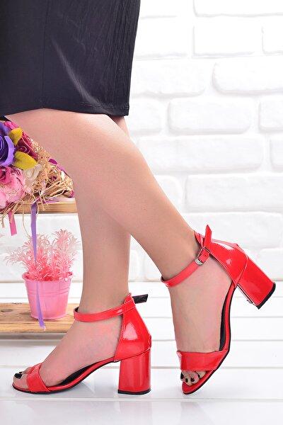 2013-05 Çatlak 7 Cm Topuk Bayan Sandalet Ayakkabı