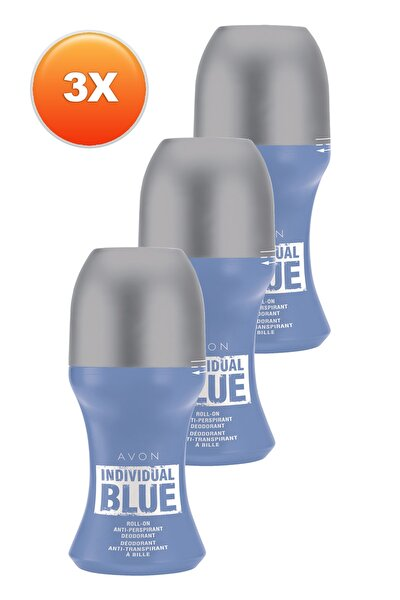 Individual Blue Erkek Roll On - 50 ml x 3'lü Set 5050000105460