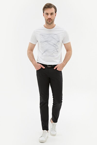 Erkek Siyah Slim Fit Chino Pantolon