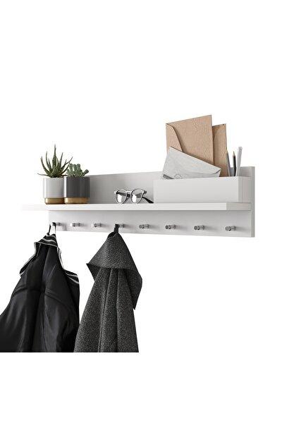 Rani P1 Modern Duvar Askısı Portmanto Askılık Beyaz Vestiyer M1