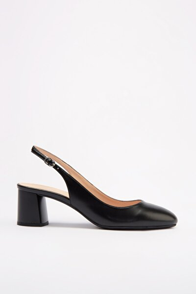 Sıyah Kadın Klasik Topuklu Ayakkabı 01AYH172670A100