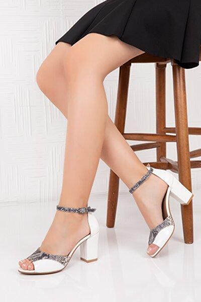 Hakiki Deri Kadın Topuklu Ayakkabı