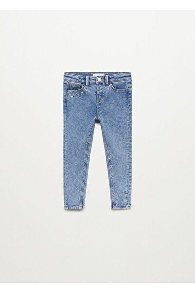 Işlemeli Skinny Jean Pantolon