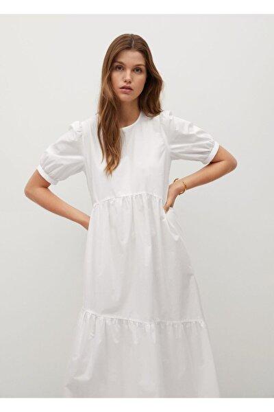 Fırfırlı Koton Elbise