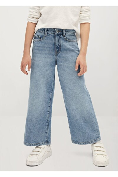 Yüksek Bel Culotte Jean Pantolon