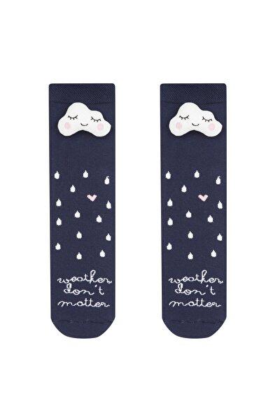 Kadın Lacivert Weather Soket Çorap