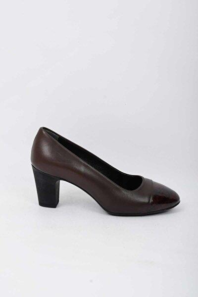 Hakiki Deri Kadın Klasik Topuklu Ayakkabı