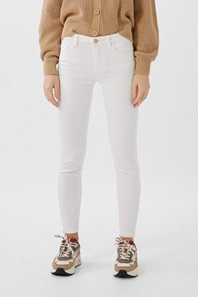 Kadın Beyaz Basic Skinny Fit Jean 01420480