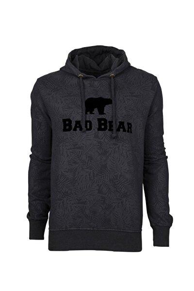 Erkek Siyah Hoodie Sweatshirt