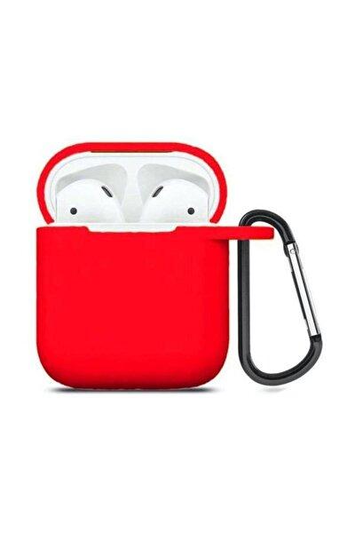 Airpods Kılıf Silikon ( Kırmızı )