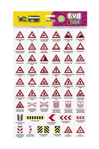 Color 20 X 30cm Trafik Işaretlerini Öğreniyorum  1  Yapışkanlı Eva Sticker