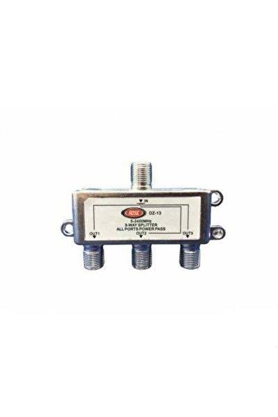 3'lü Uydu Splitter Kablo Tv Rg6 4818p Çoklayıcı Dağıtıcı Anten Çanak Çevirici Switch Hub 2500mh