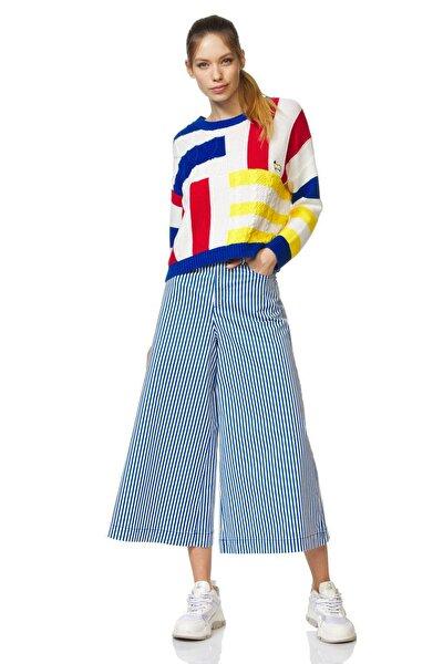 Kadın Çizgili Geniş Paça Pantolon 312014SB9574O5-901