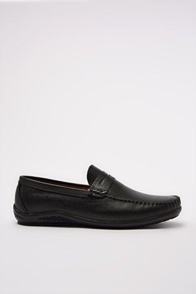 Hakiki Deri Siyah Erkek Casual Ayakkabı 02AYY207760A100