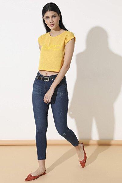 Kadın Çağla Tint Yüksek Bel Pantolon 110-0Yb13259Ptl