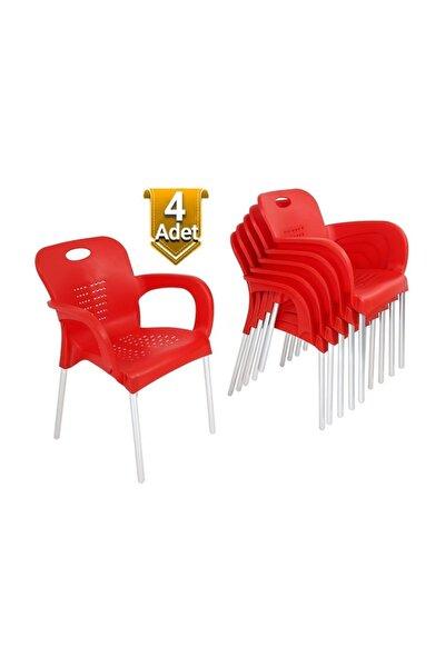 4 Adet Çok Sağlam Plastik Sandalye - Uzun Ömürlü - Günün Fırsatı