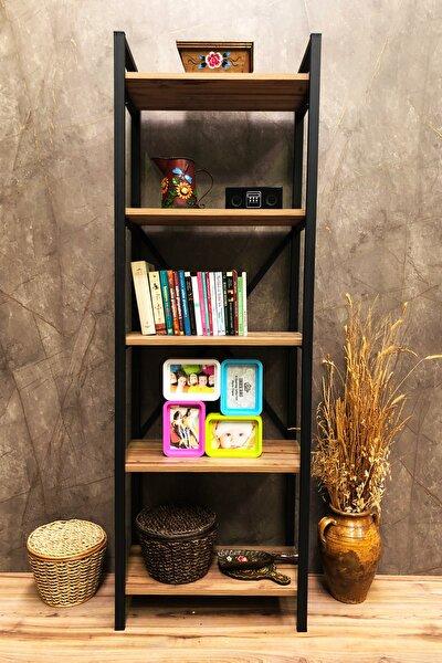 Arya 5 Raflı Kitaplık 180x60 cm. Ebat