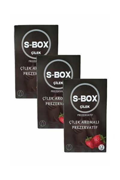 Kondom Çilek Aromalı Prezervatif 36'lı Paket Condom