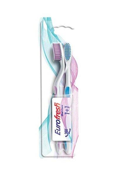 9700789 Eurofresh Oral Care 2 Adet Diş Fırçası Pembe-Mavi