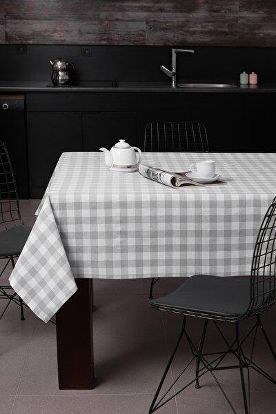 Masa Örtüsü 160x160Cm Kareli Gri