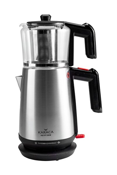 Keyfi Dem Cam Demlikli Çay Makinesi İnox