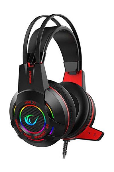 Miracle-X4 Siyah RGB Led 7.1 Mikrofonlu Oyuncu Kulaklığı