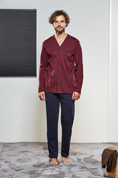 Erkek Düğmeli Pijama Takımı 21315